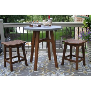 Jeffers 3 Piece Bistro Set by Alcott Hill Best #1