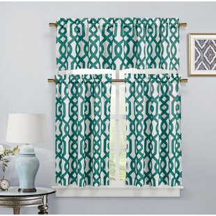 Aqua Kitchen Curtains