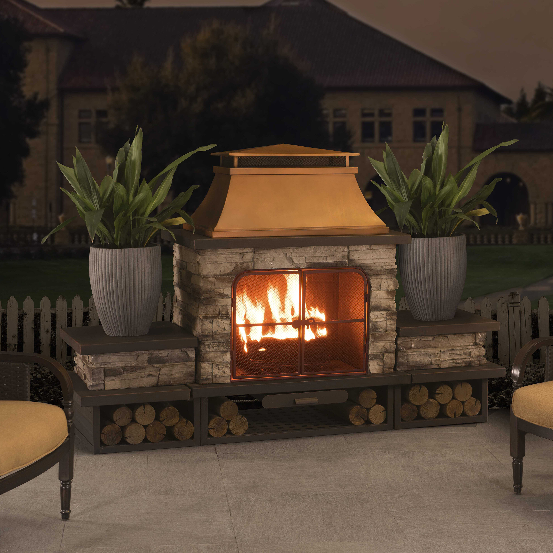 Canora Grey Quillen Steel Wood Burning Outdoor Fireplace Reviews