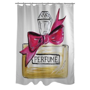 Bow Perfume Quilted Single Shower Curtain