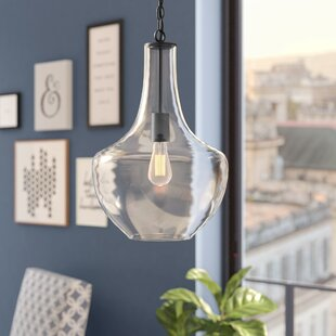 Brayden Studio Dunmore 1-Light Teardrop Pendant