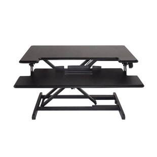 Brant Compact Height Adjustable Standing Desk with Keyboard Tray
