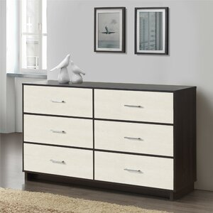 Chicopee Wood 6 Drawer Dresser