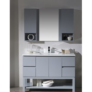 Maly 49 Single Bathroom Vanity Set with Mirror By Orren Ellis
