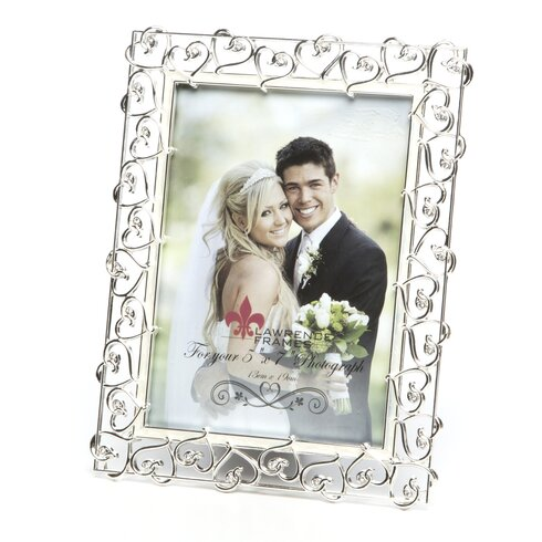 Lawrence Frames Crystals and Ivory Enamel Metal Picture Frame   Wayfair