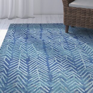 Hurst Pacific Blue Area Rug by Highland Dunes