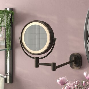 Symple Stuff Lighted Wall Mount Makeup/Shaving Mirror