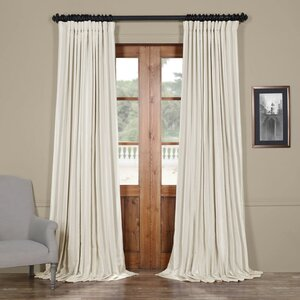 Bahari Textured Faux Silk Extra Wide Blackout Single Curtain Panel