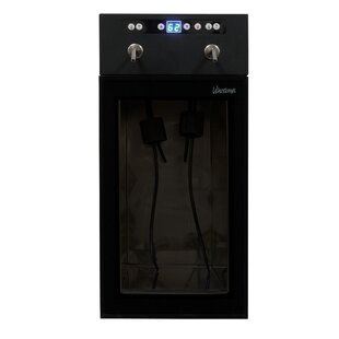 2 Bottle Single Zone Built-In Wine Cooler by Vinotemp Amazing