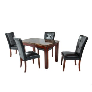 Alberto 5 Piece Dining Set by Hazelwood H..