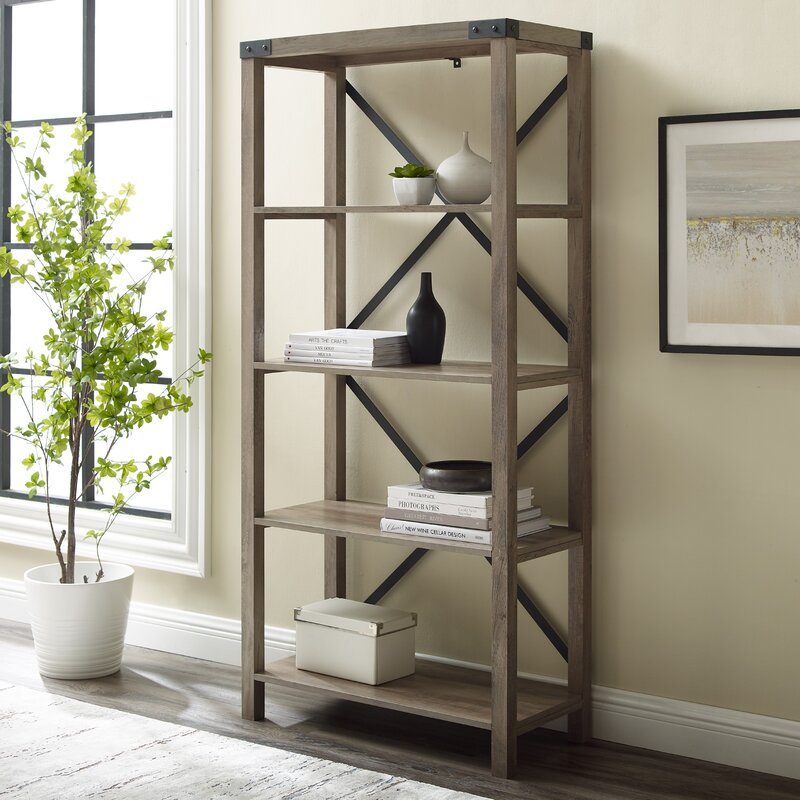 """Foundry Select Arsenault 64"""" H x 30"""" W Etagere Bookcase & Reviews"""