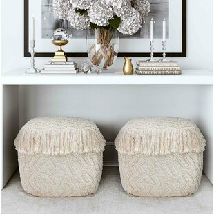 Zahir Pouf by Bungalow Rose