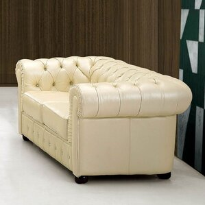 Keomi Leather Loveseat by Rosdorf Park