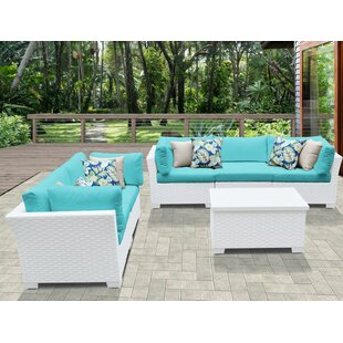 Monaco 6 Piece Sofa Seating Group with Cushions