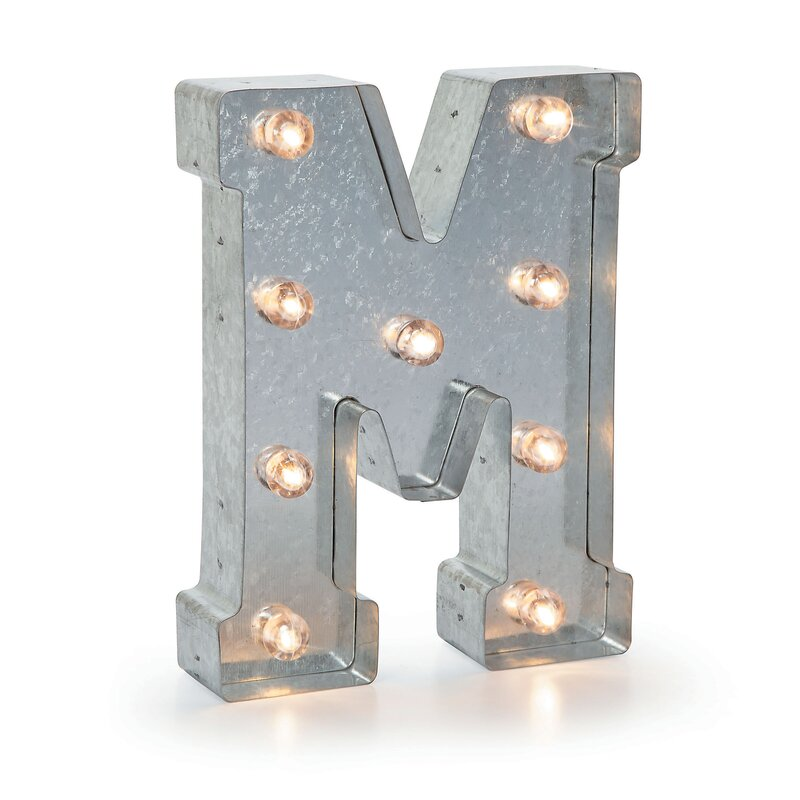 buhl marquee metal letter blocks reviews joss main