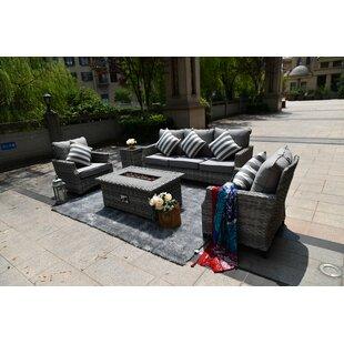 Newcastleton 5 Seat Rattan Conversation Set By Sol 72 Outdoor