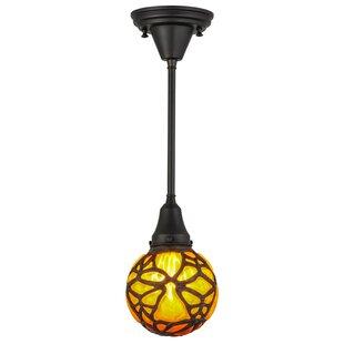 Castle Butterfly Orb 1-Light Globe Pendant by Meyda Tiffany