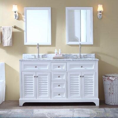 """Bathroom Vanities Lakeland Fl kbc savannah 60"""" double bathroom vanity set & reviews   wayfair"""