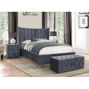 Powell Upholstered Bed Frame By Canora Grey