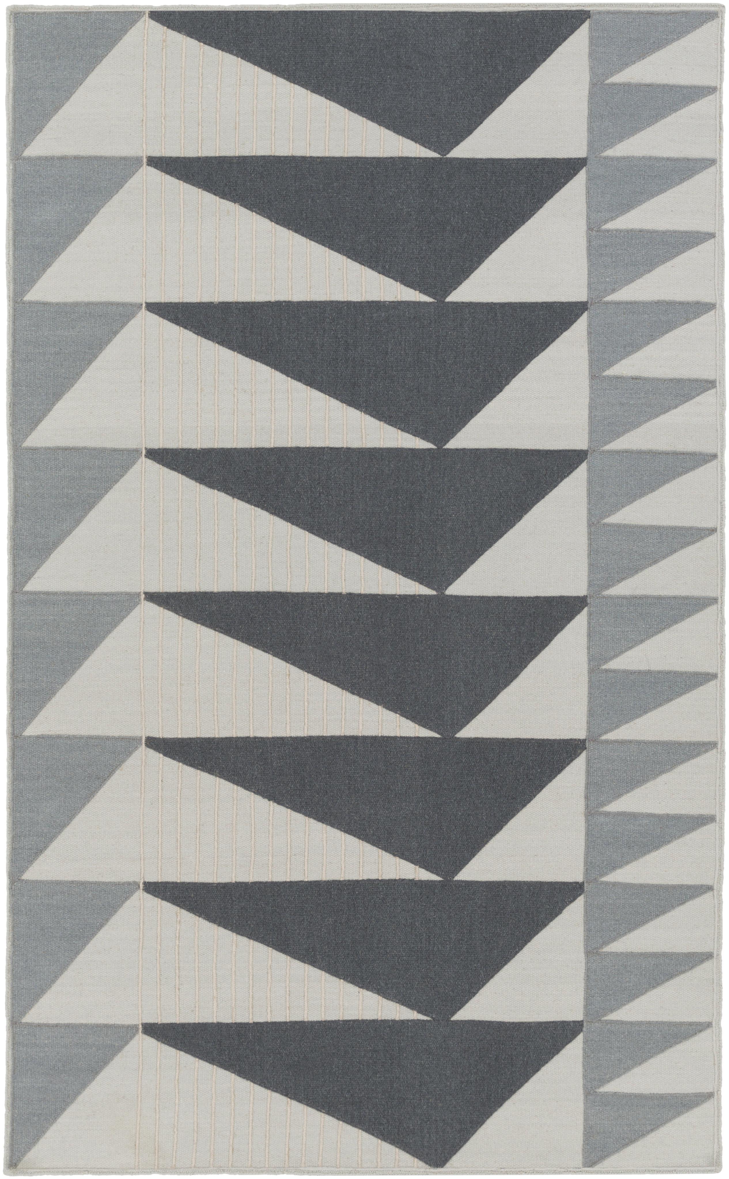 Briggs Geometric Handwoven Wool Charcoal Light Gray Area Rug Allmodern