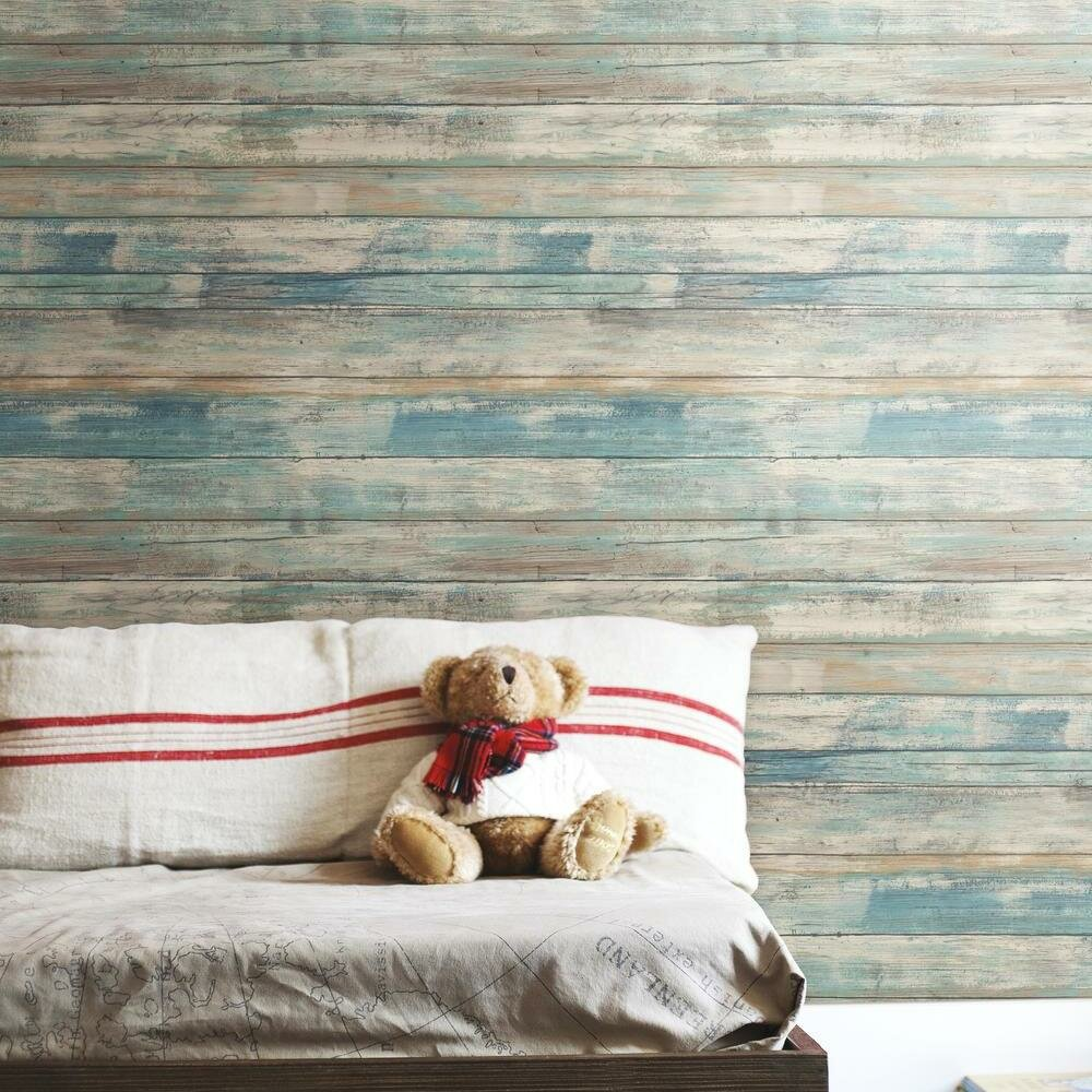 Room Mates 16 5 X 20 5 Peel And Stick Wallpaper Roll Reviews Wayfair