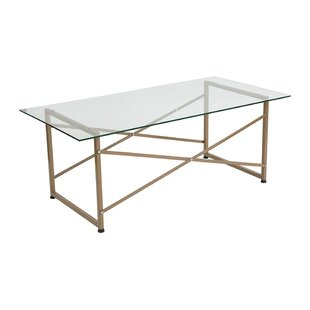 Mercer41 Bass Glass Coffee Table