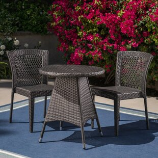 Iliomar 3 Piece Bistro Set