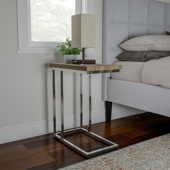 Gray Slide Under Couch Or Bed By Lavish Home Sofa Side Table C Shaped End Table