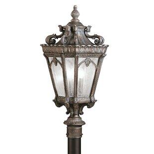 Best Choices Guzzi Outdoor 3-Light Lantern Head By Fleur De Lis Living