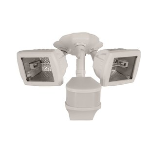 Cooper Lighting LLC Outdoor Security Flood Light with Motion Sensor