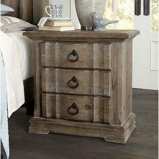 Fiske 3 Drawer Nightstand