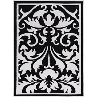 Damask Rug Black And White Wayfair Ca
