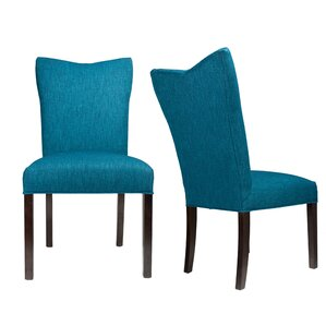 Politte Spring Seating Double Dow Upholstered Parsons Chair (Set of 2) by One Allium Way