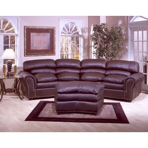 Attractive Williamsburg Leather Configurable Living Room Set
