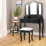 Renfro Vanity Set with Stool and Mirror by House of Hampton®