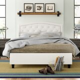 Searcy Tufted Upholstered Platform Bed by Three Posts™ Teen