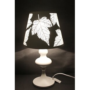 Jernigan Maple Leaf Cutout Oval 19 Table Lamp