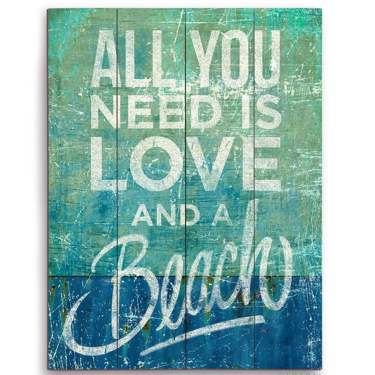 Blue Wooden Textual Art You Ll Love In 2021 Wayfair