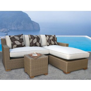 Gates 3 Piece Sunbrella Sectional Set with Cushions by Bayou Breeze