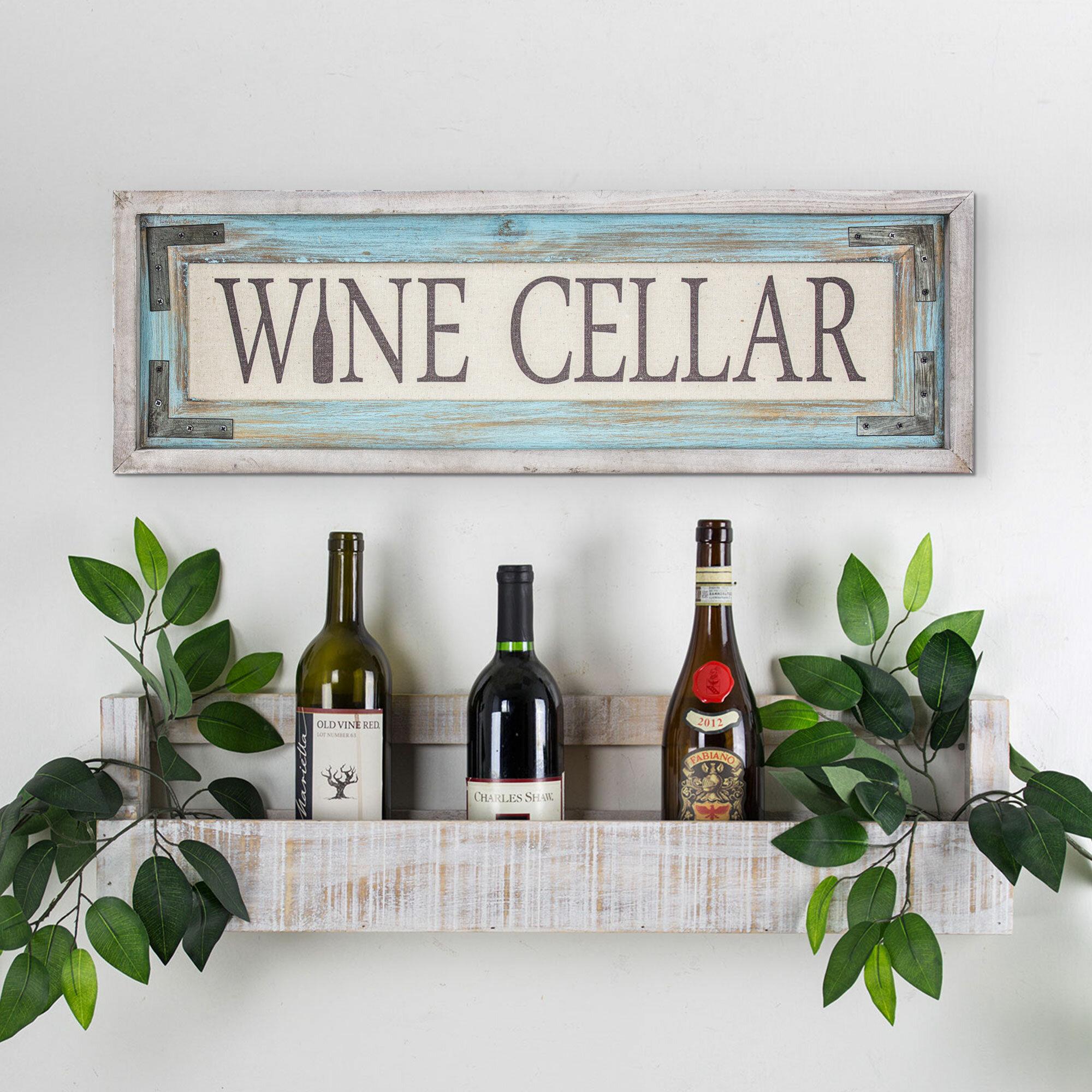 Wood Framed Canvas Sign Farmhouse Wall