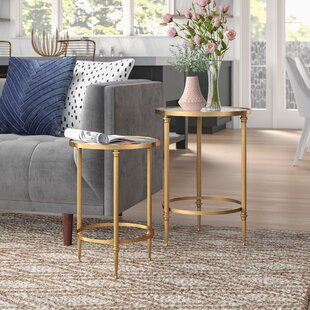 Samir 2 Piece Nesting Tables by Willa Arlo Interiors 2019 Sale