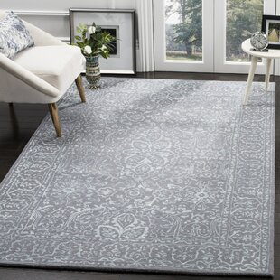 Compare Wilkins Hand-Tufted Opal/Gray Area Rug By World Menagerie