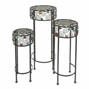 Alland 3 Piece Round Top Nesting Plant Stand (Set of 3)
