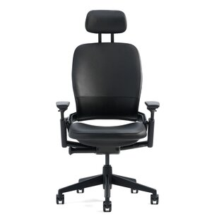 Leap® High-Back Leather Desk Chair by Steelcase Great Reviews