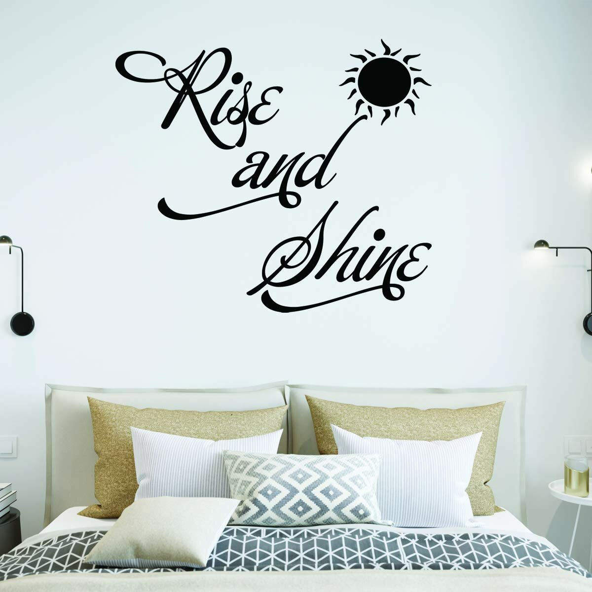 Rise and Shine Bedroom Quotes Wall Decal
