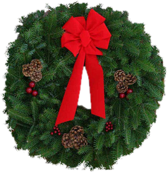 fresh cut christmas wreaths