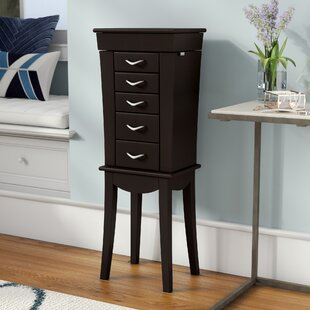 Brayden Studio Boll Jewelry Armoire with Mirror