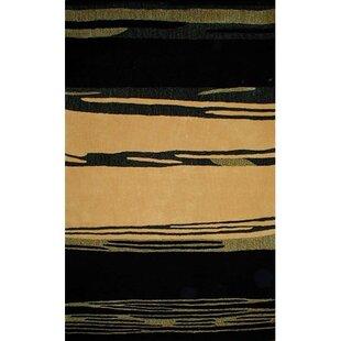 Order Bright Horizon Yellow/Black Area Rug ByAmerican Home Rug Co.