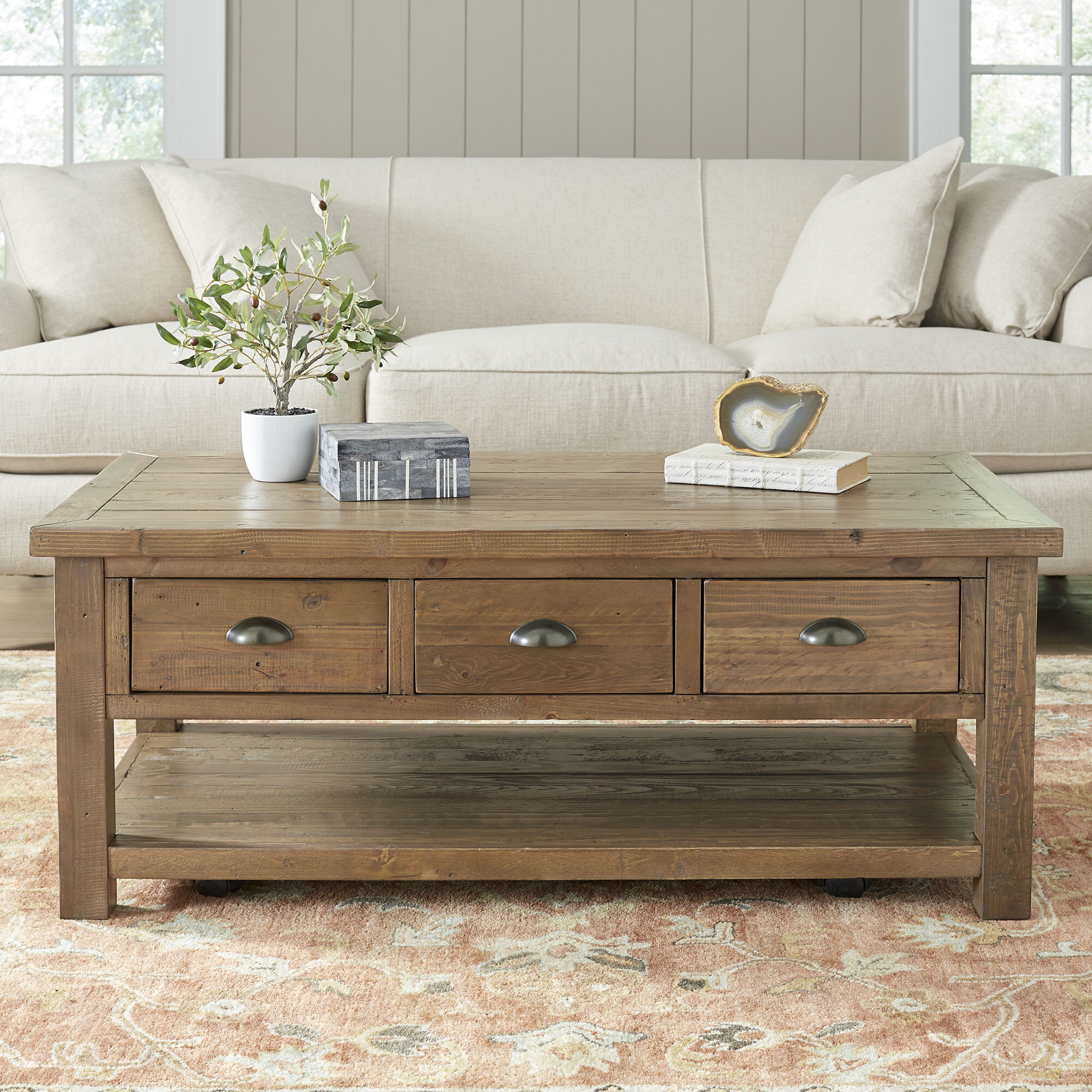 Birch Lane Seneca Coffee Table Reviews Birch Lane - Rectangle coffee table with drawers