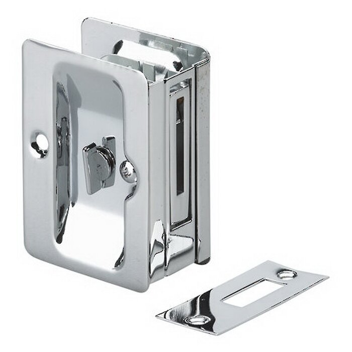 Richelieu Rectangular Pocket Door Pull with Privacy Lock & Reviews on